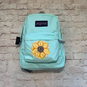 Sunflower Backpack Jansport NWT Hand Painted